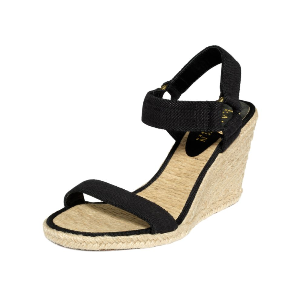 5b5ead5d7812 Lyst - Lauren by Ralph Lauren Indigo Espadrille Wedge Sandals in Black