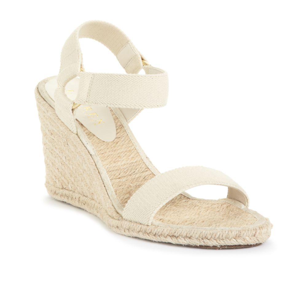 f5f92f866a13 Lyst - Lauren by Ralph Lauren Indigo Espadrille Wedge Sandals in Natural