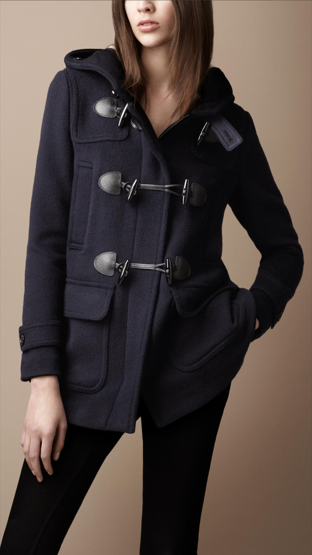 Lyst Burberry Brit Wool Duffle Coat In Blue