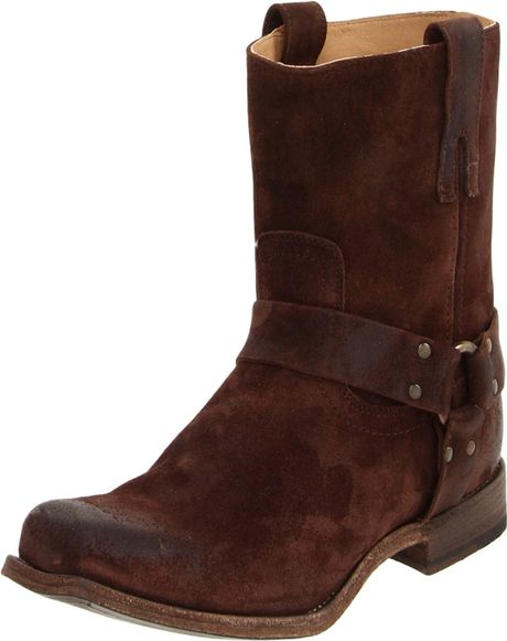 frye frye mens smith harness boot in brown for