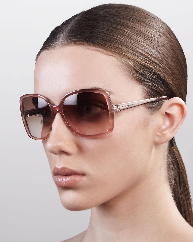 54dea144c3 Lyst - Kate Spade Darrys Oversize Square Sunglasses in Pink