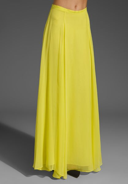 Mason by michelle mason silk maxi skirt in yellow lyst