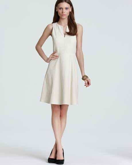 Theory Leather Dress Etiara L Light in White (bon)