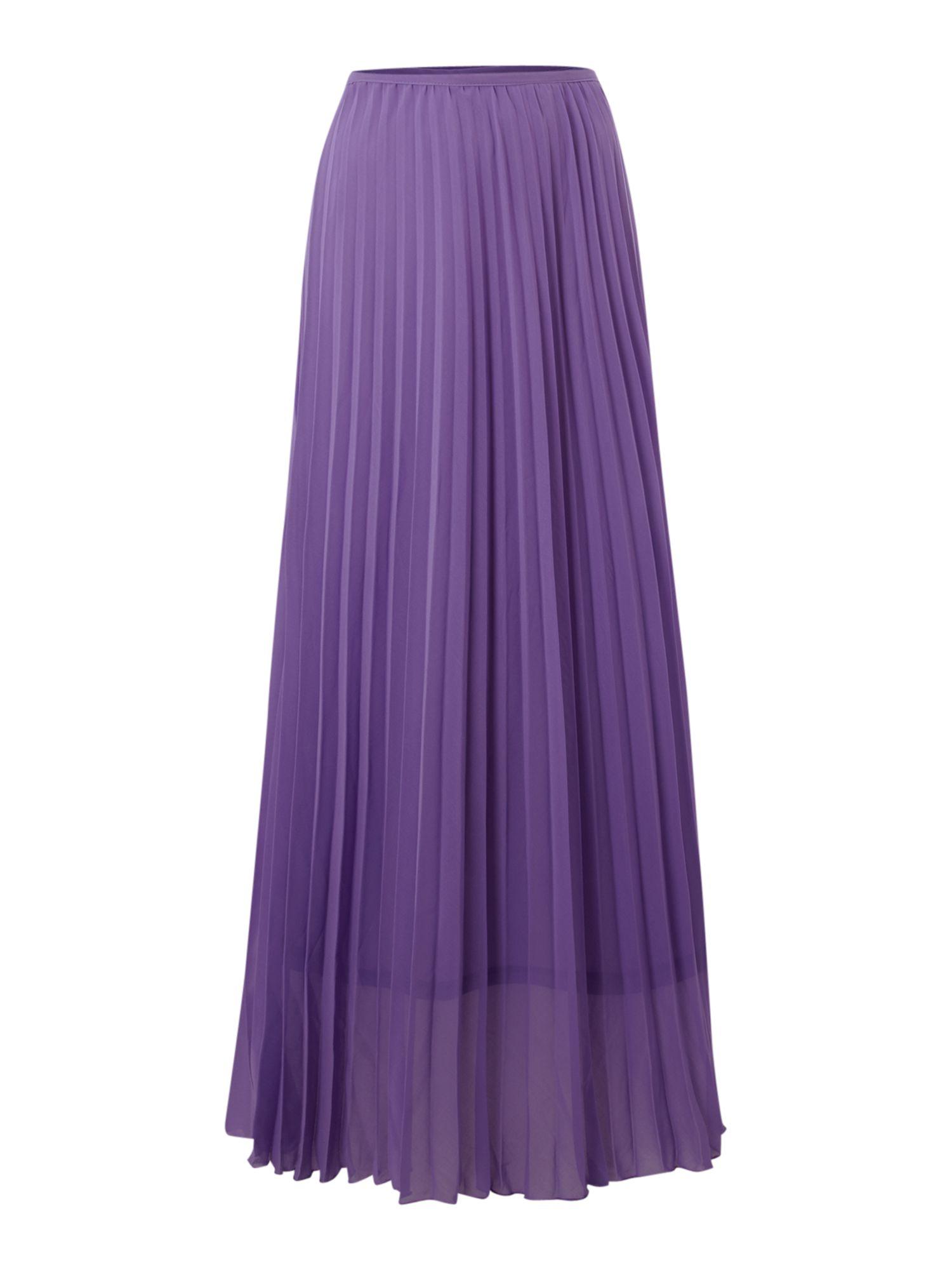 true decadence pleated maxi skirt in purple lyst