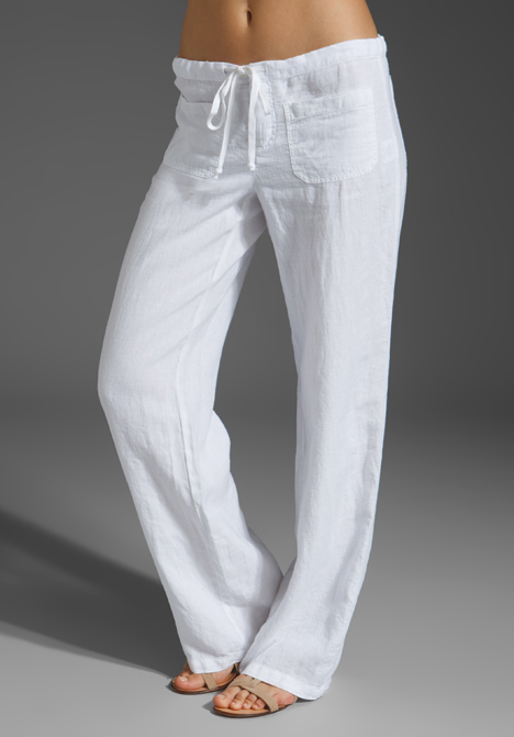 white linen beach pants - Pi Pants