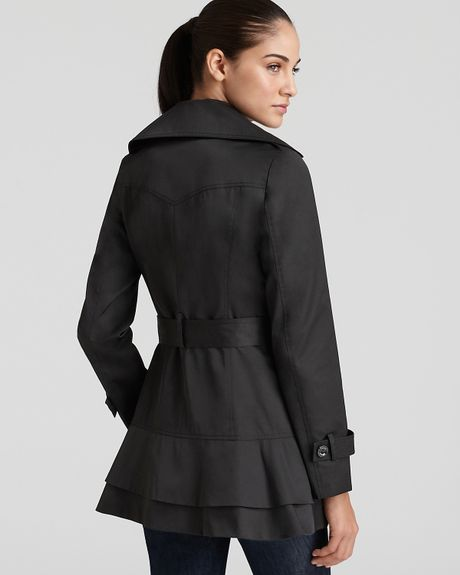 Ever Guess Coat Beverly Trench Coat In Black Jet Black