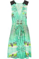 Julie Haus Midge Printed Linen Silk Dress