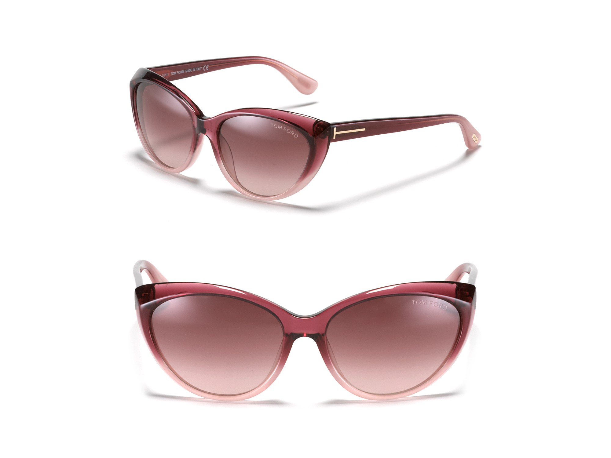 Tom Ford Martina Cat Eye Sunglasses In Purple Lyst