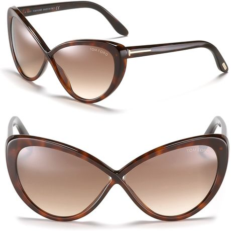 tom ford madison cat eye sunglasses in brown shiny dark havana. Cars Review. Best American Auto & Cars Review