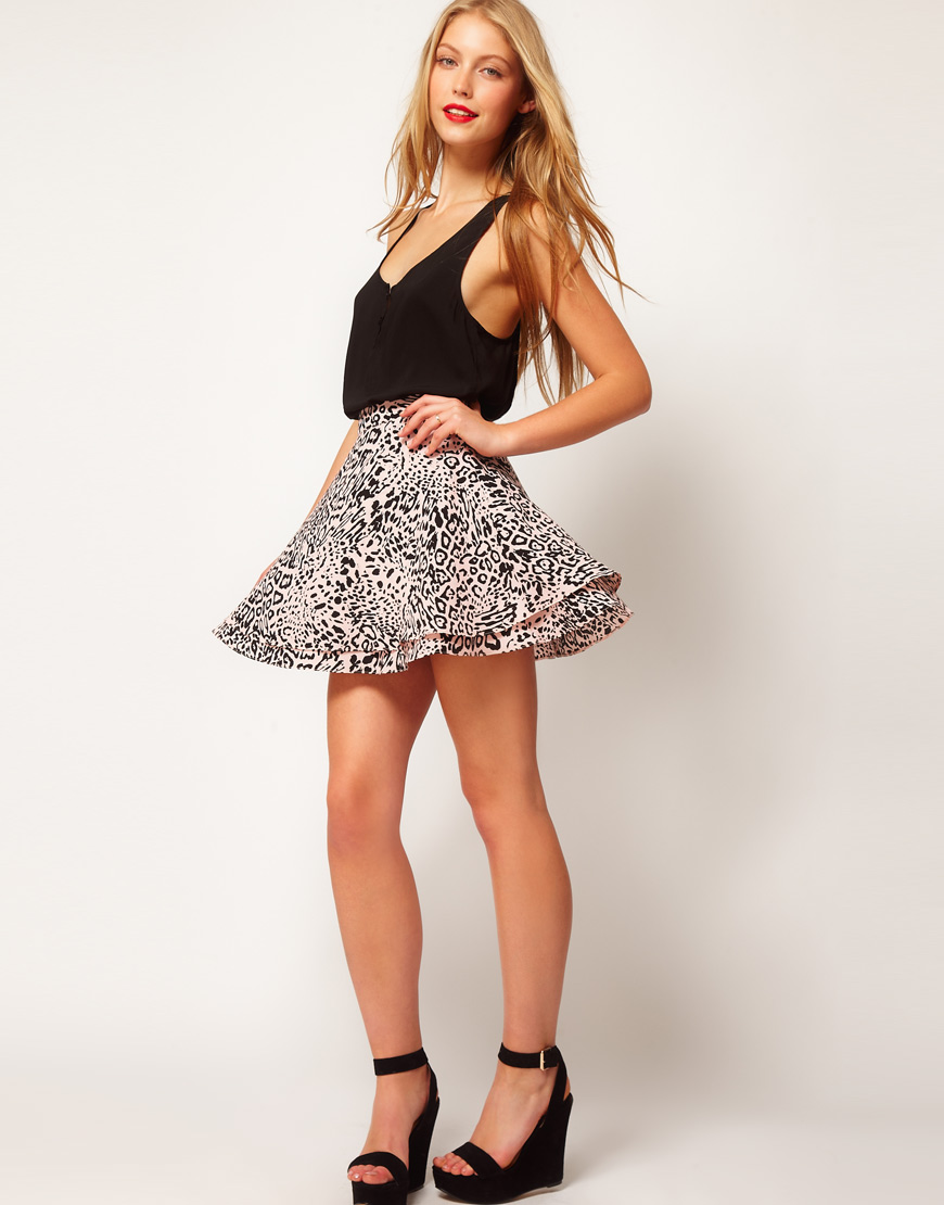Picture Of Junior Animal Print Skirt Sk11 5 Pc