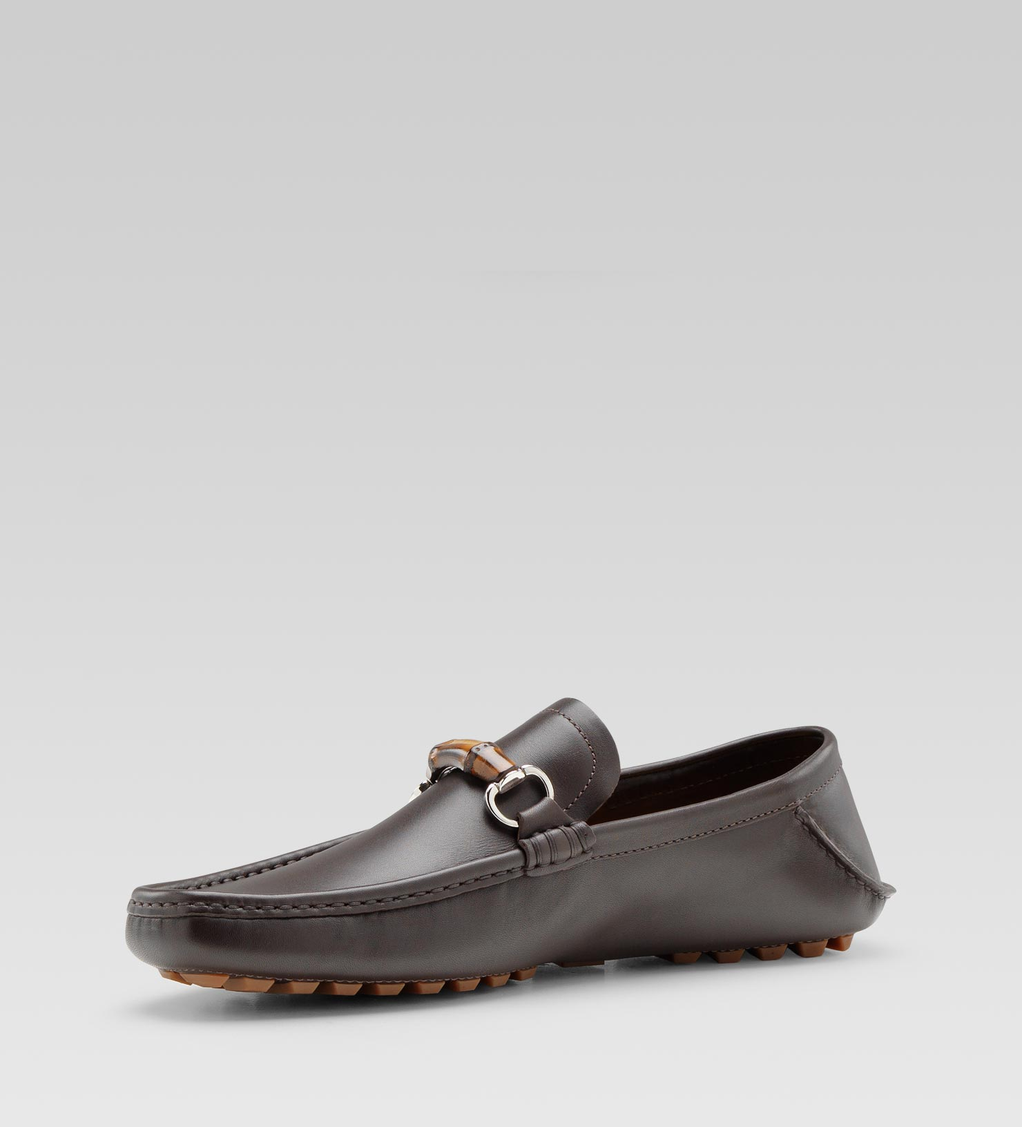 dc9f397bafa Lyst - Gucci Moccasin with Bamboo Horsebit in Brown for Men