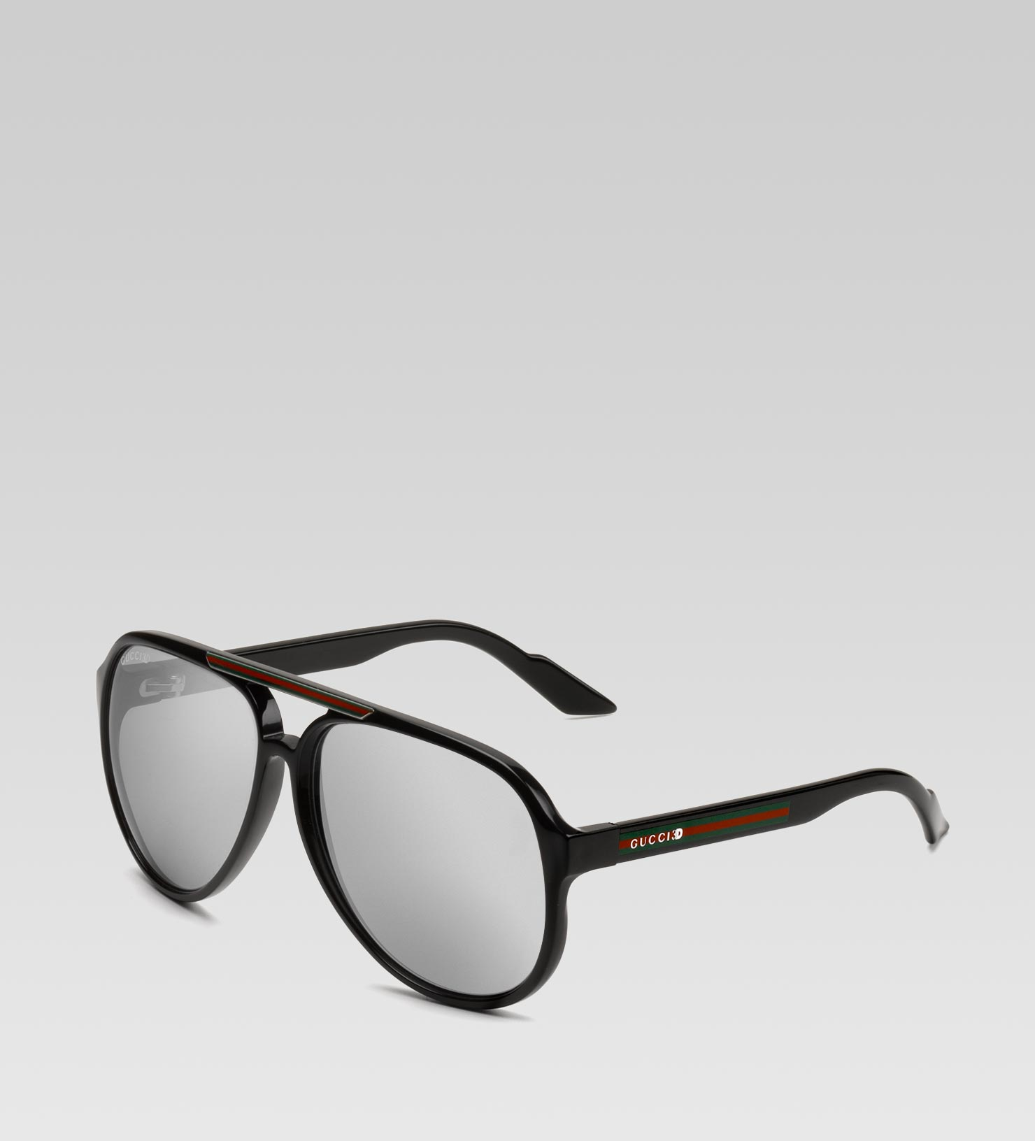 aa9ac28974c Lyst - Gucci 3d Glasses with Gucci 3d Detail and Signature Web On ...