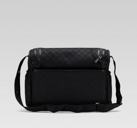 6700aacb462 Gucci Original Gg Canvas Diaper Bag in Black