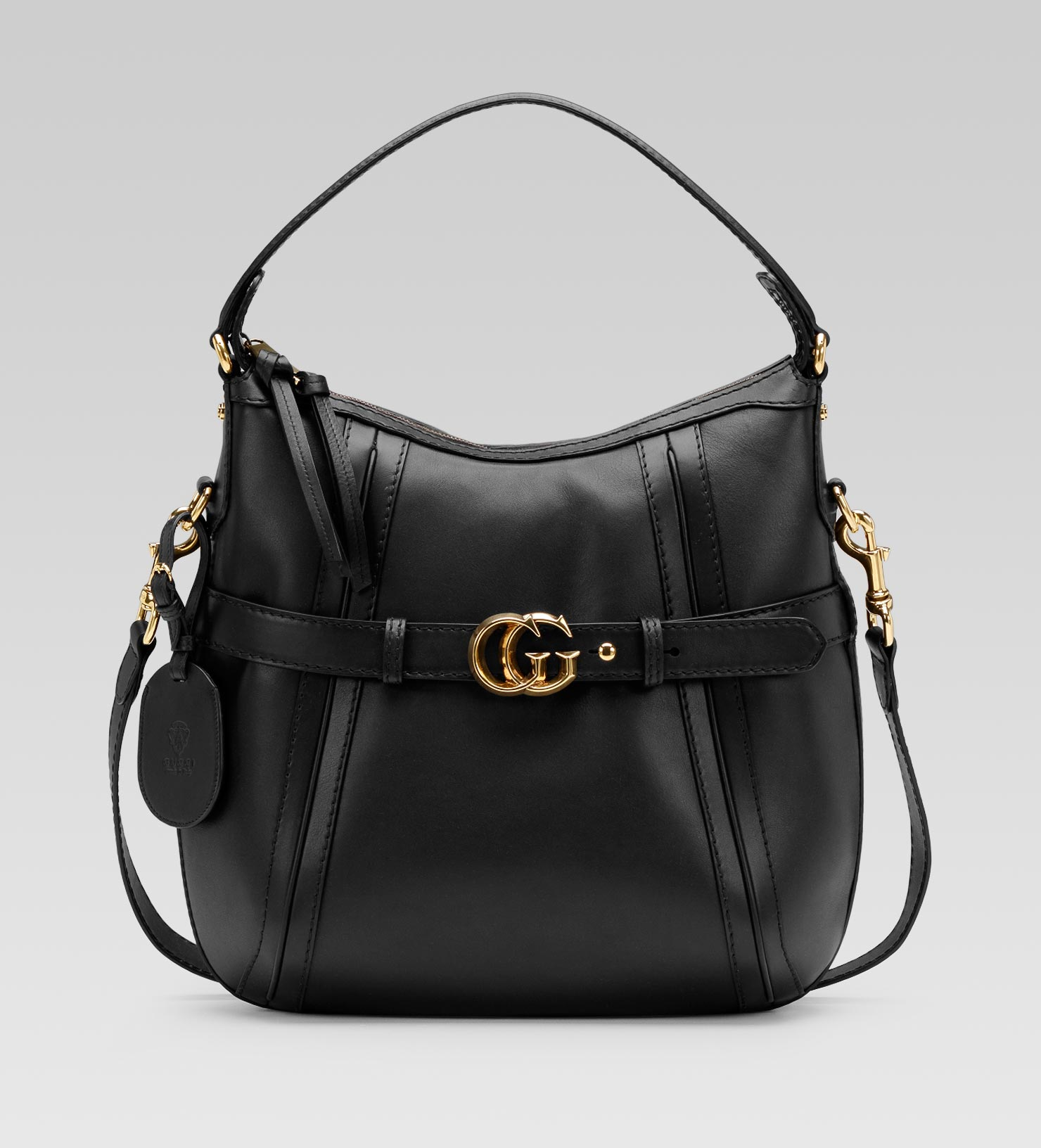 b83d6ce85a0 Gucci Gg Running Medium Hobo with Double G Detail in Black - Lyst