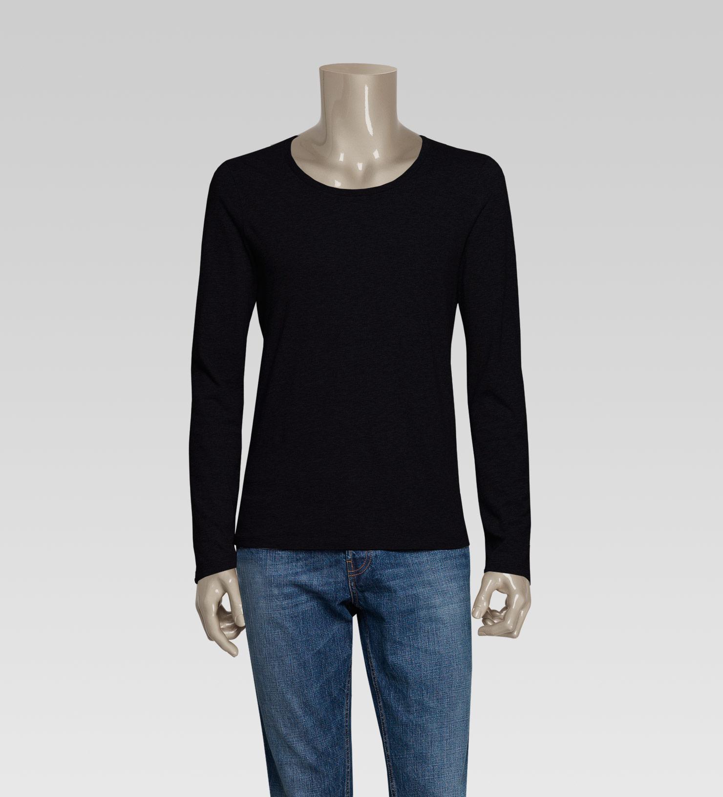 324cc682 Men's Black Gucci Trademark Long Sleeve Tshirt