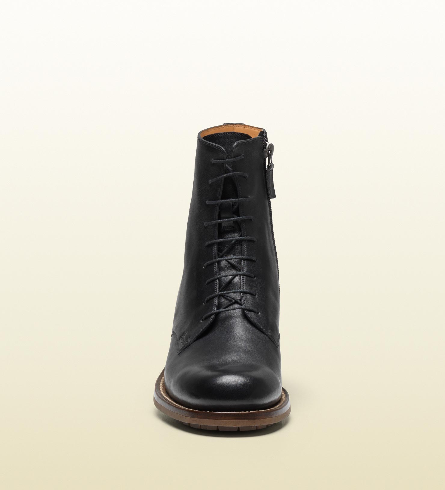 Gucci Laceup Military Boot in Black for