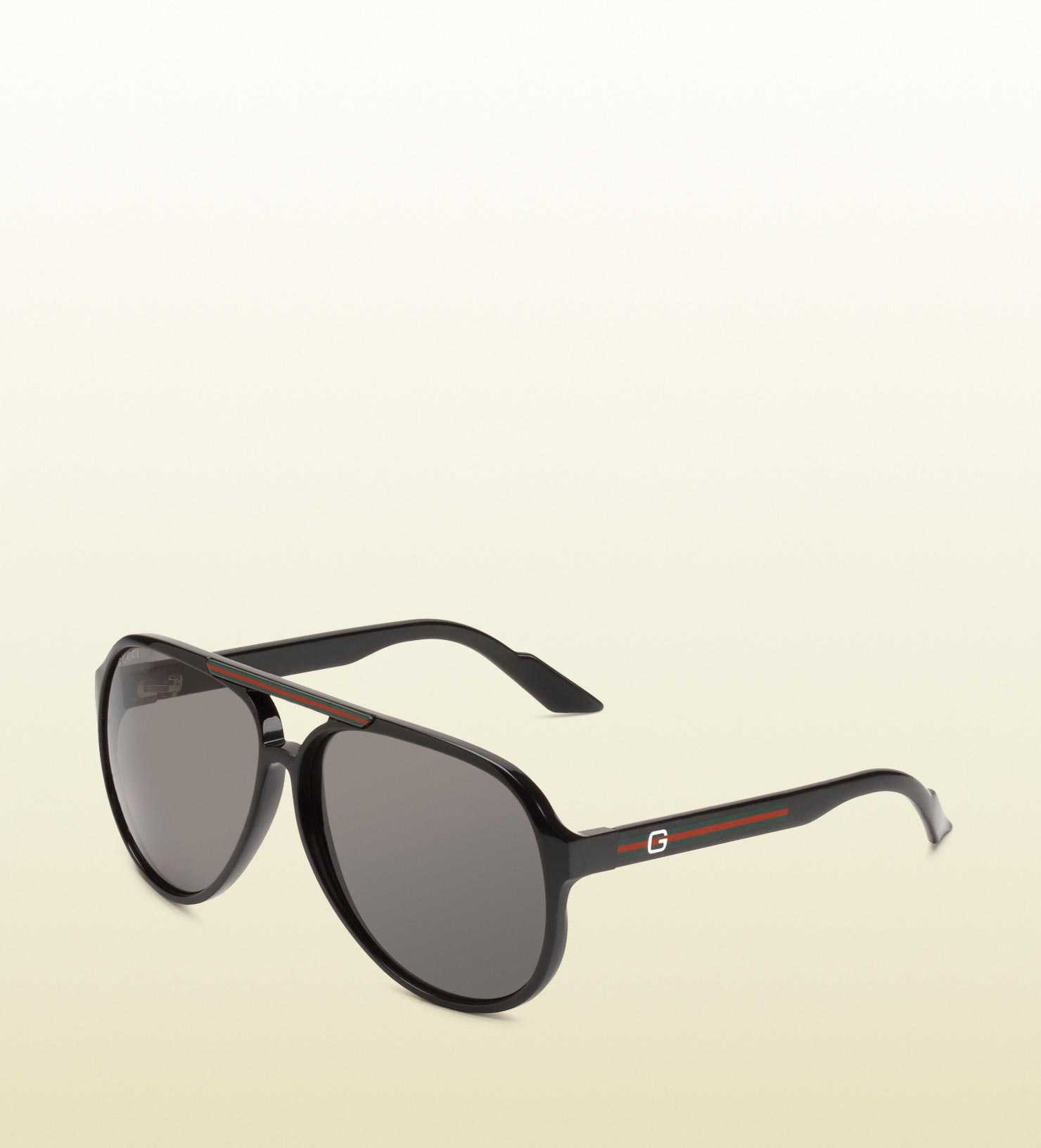 60284c56a98 Lyst - Gucci Medium Aviator Sunglasses With G Detail And Signature ...