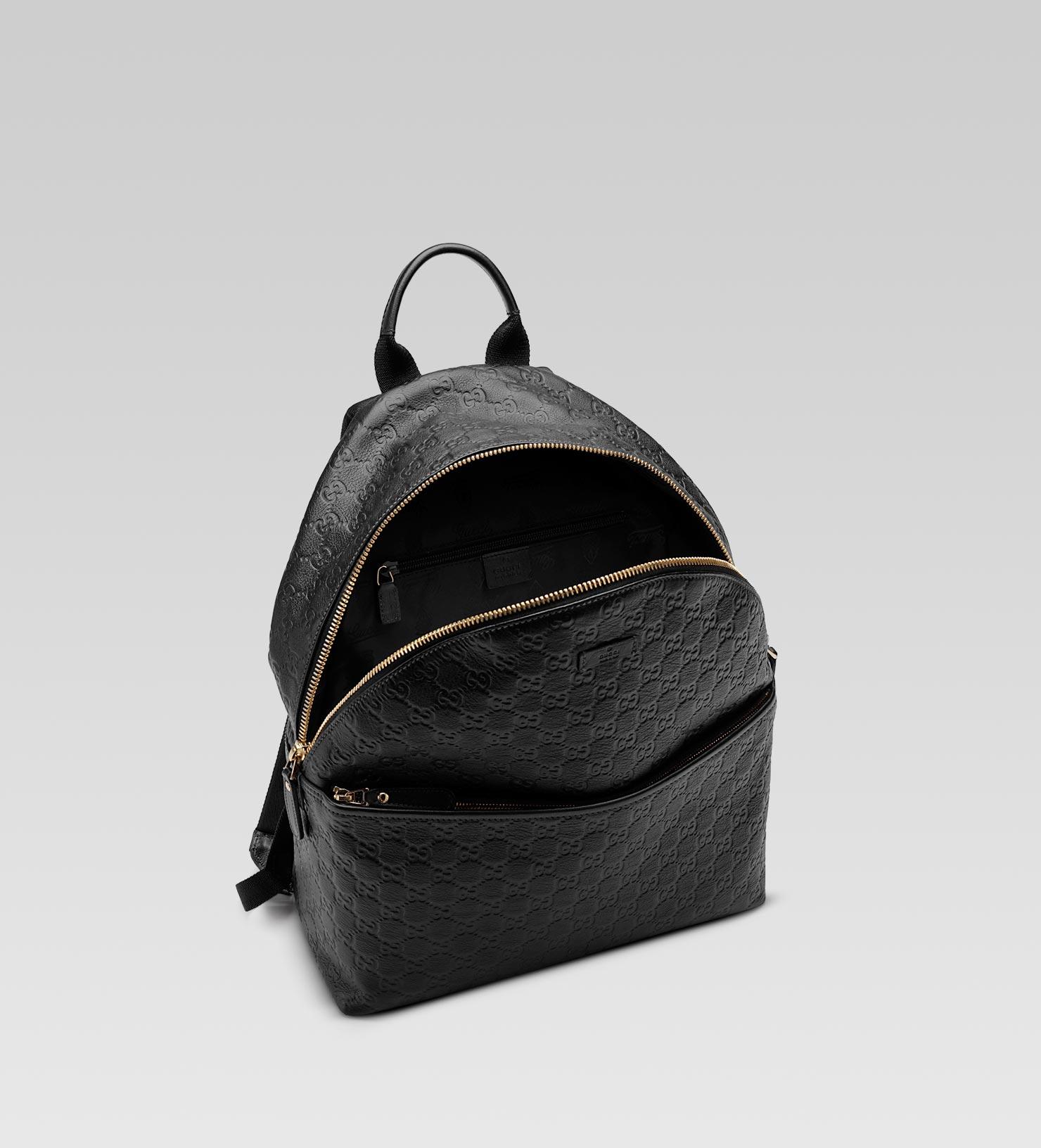 233501d5ea08 Lyst - Gucci Zip Backpack in Black for Men