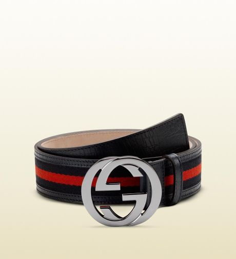 9efb48e3e41fe4 Gucci Signature Web Belt With Interlocking G Buckle in Black for Men (blue)