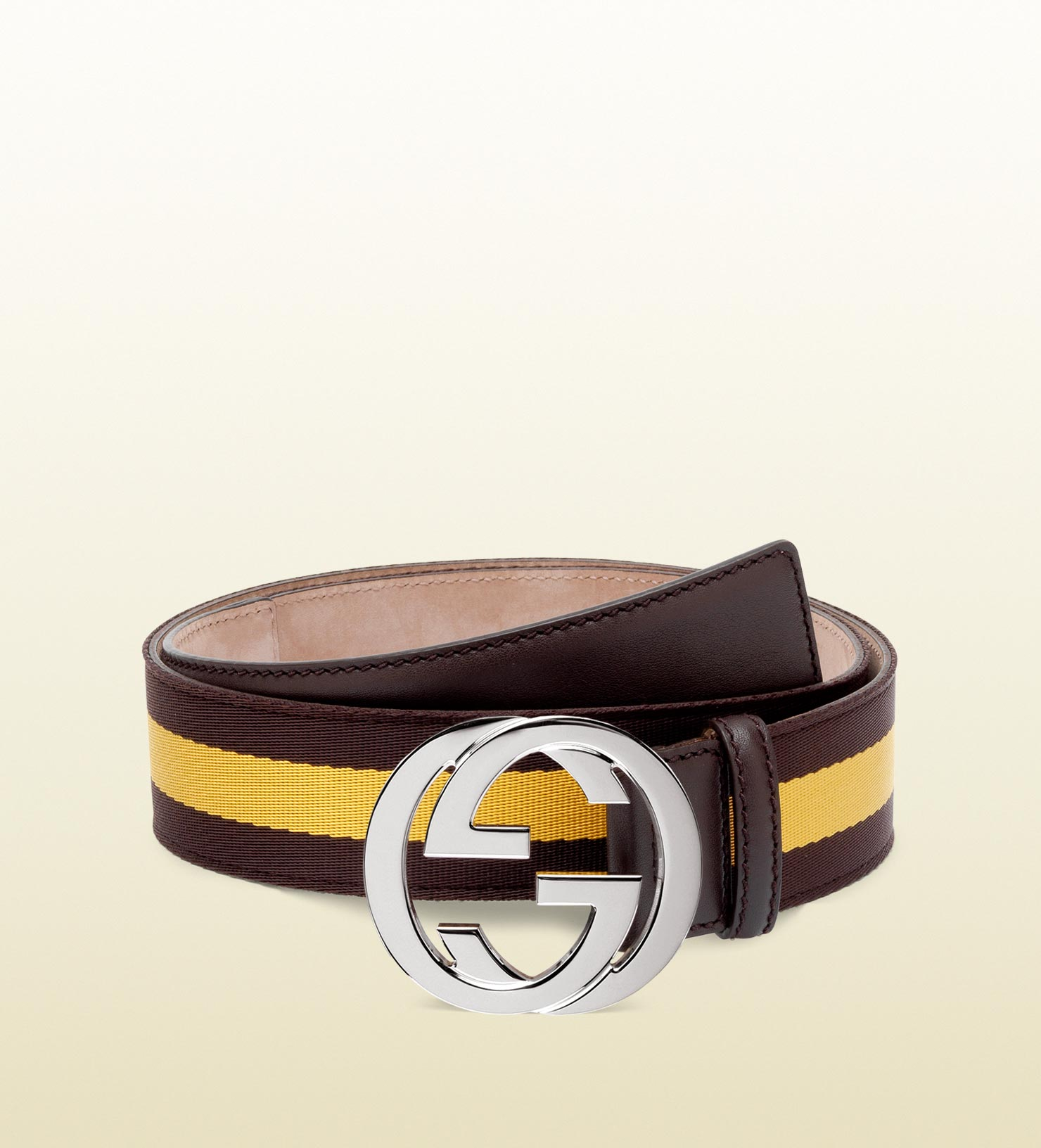 Double D Ring Belt Lyst Gucci Belt With Interlocking G