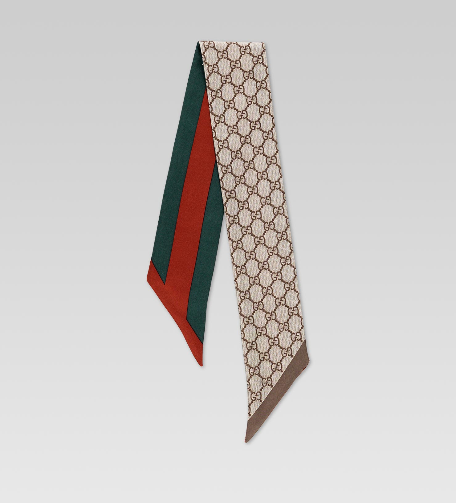 d8415f0a394 Lyst - Gucci GG Pattern Reversible Headband with Web Detail in Red