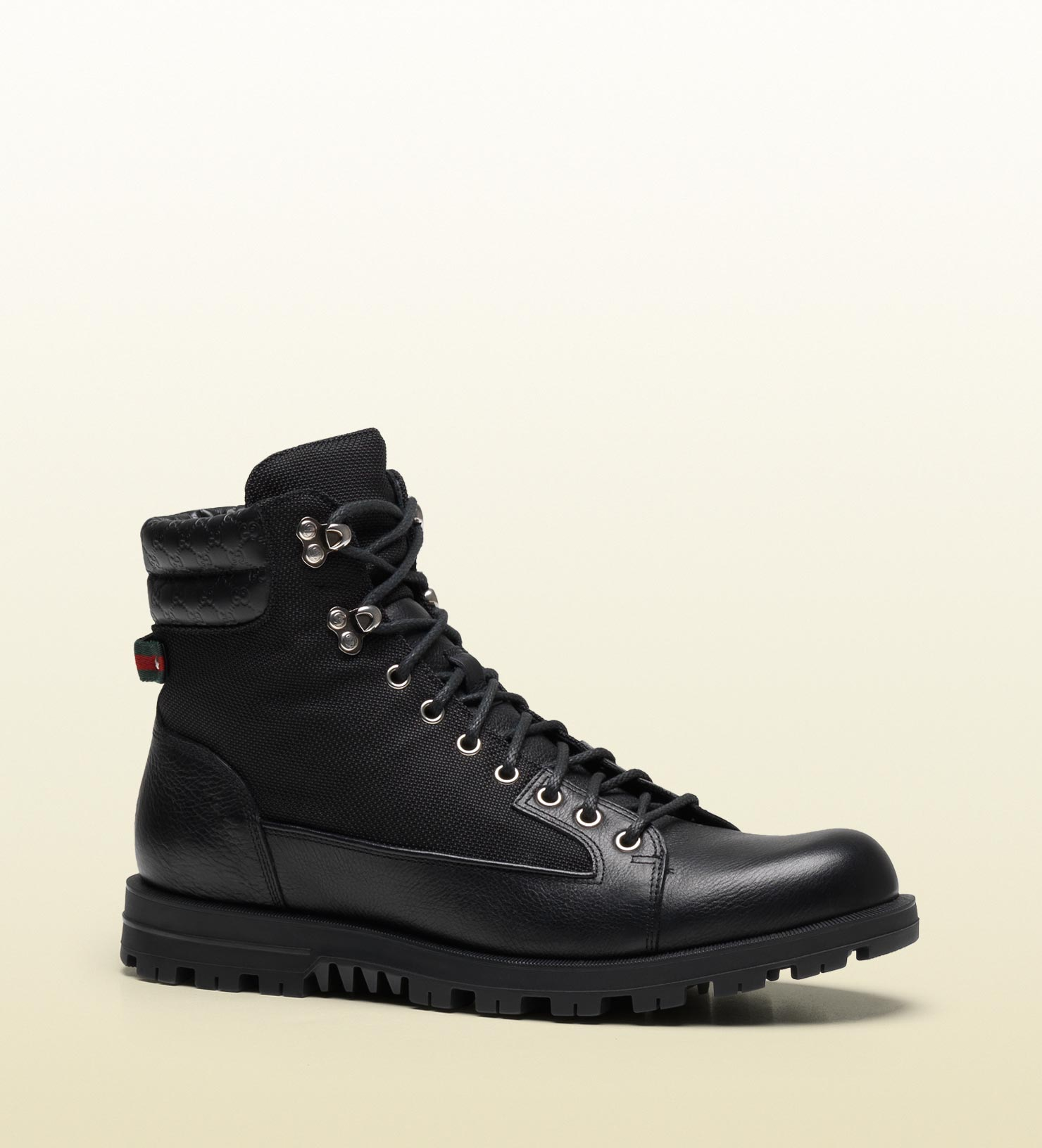 gallery for gt black gucci boots for men