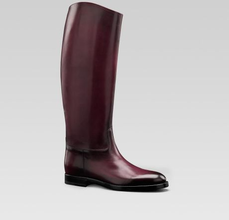 gucci mens collection boot with gucci crest detail