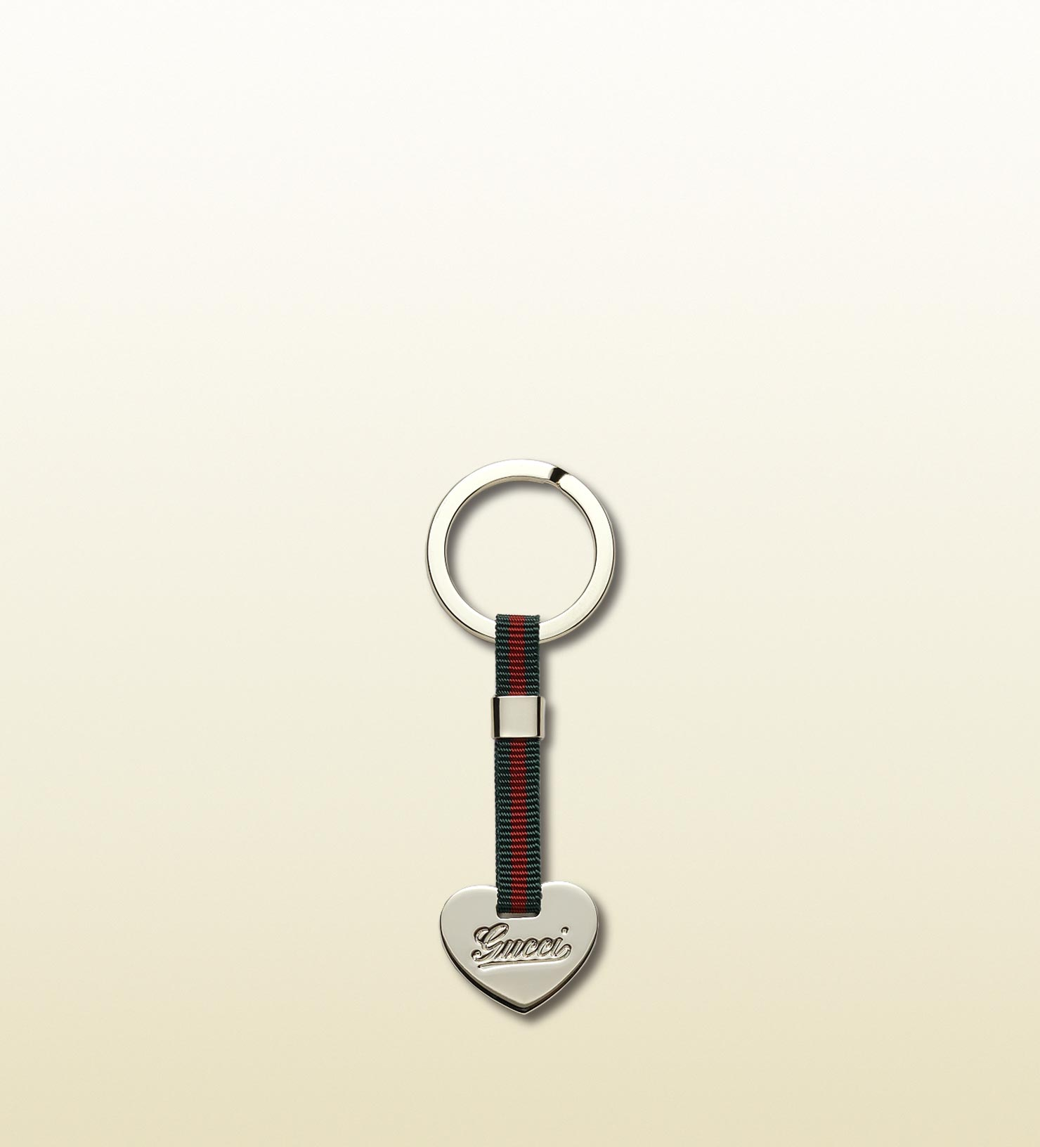 4d8a797fe Lyst - Gucci Key Ring With Web And Heart Detail in Blue