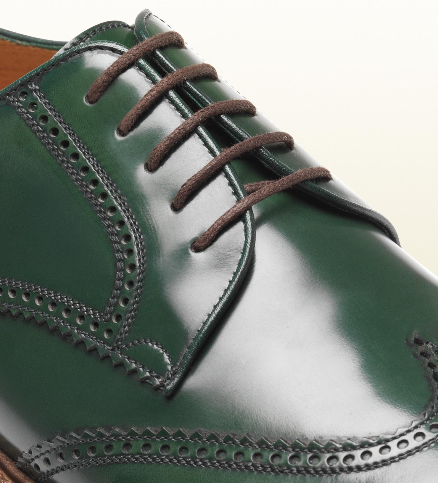 230e794619a5 Lyst - Gucci Laceup Brogue Shoe in Green for Men