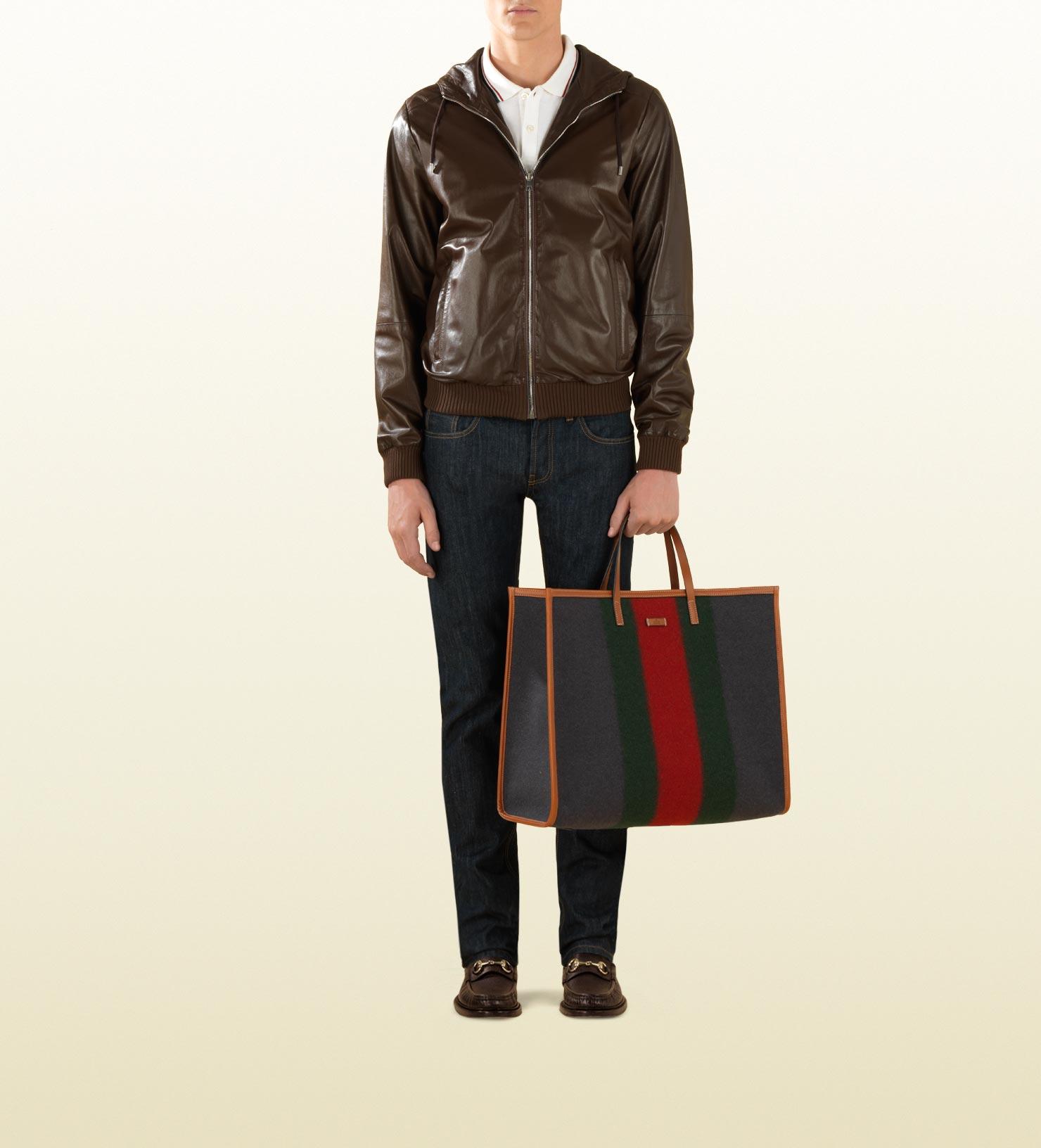 074a36c8e8e3 Gucci Tote Bag in Gray for Men - Lyst