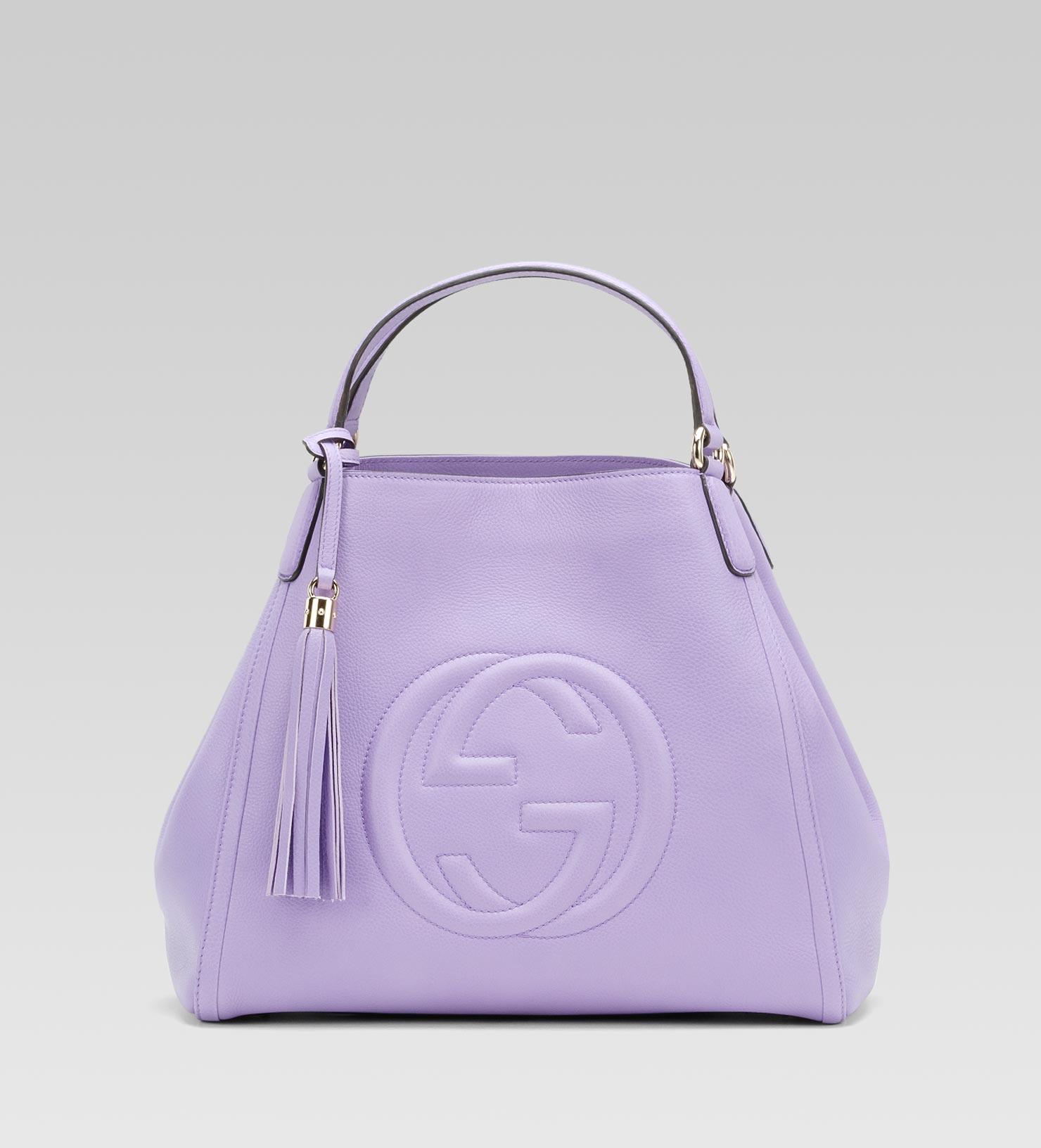 Lyst - Gucci Soho Shoulder Bag in Purple 3f195d1aca0f5