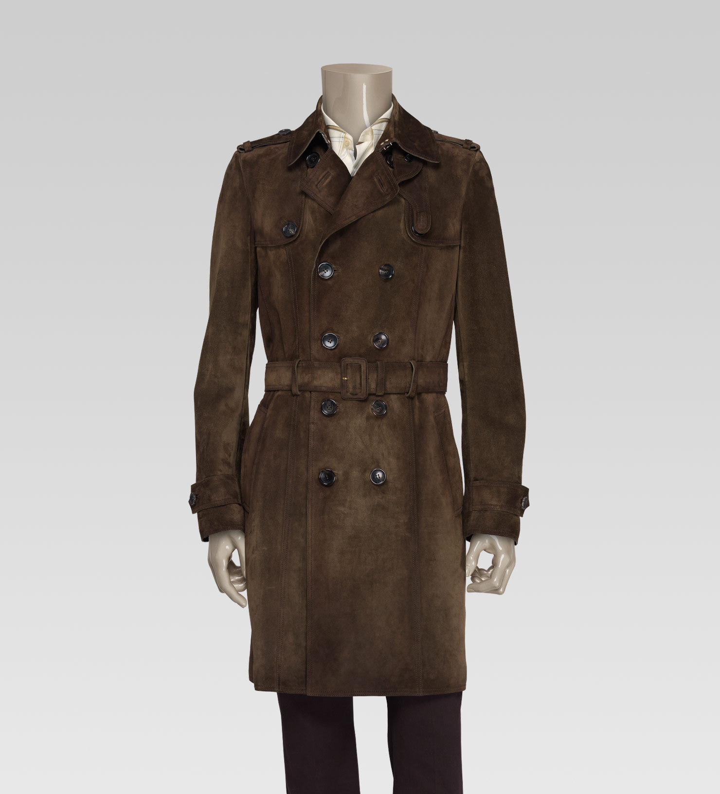 Gucci Mens Collection Trench Coat In Brown For Men Lyst