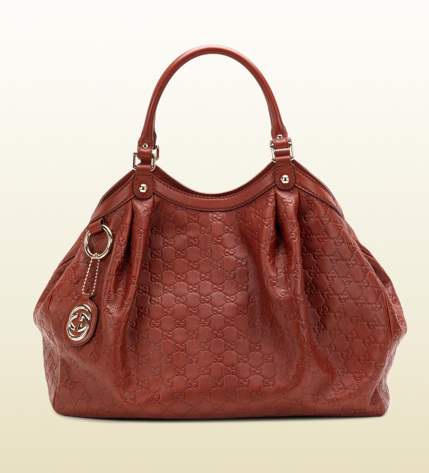 106e035285ad Gucci Sukey Guccissima Leather Tote in Brown - Lyst
