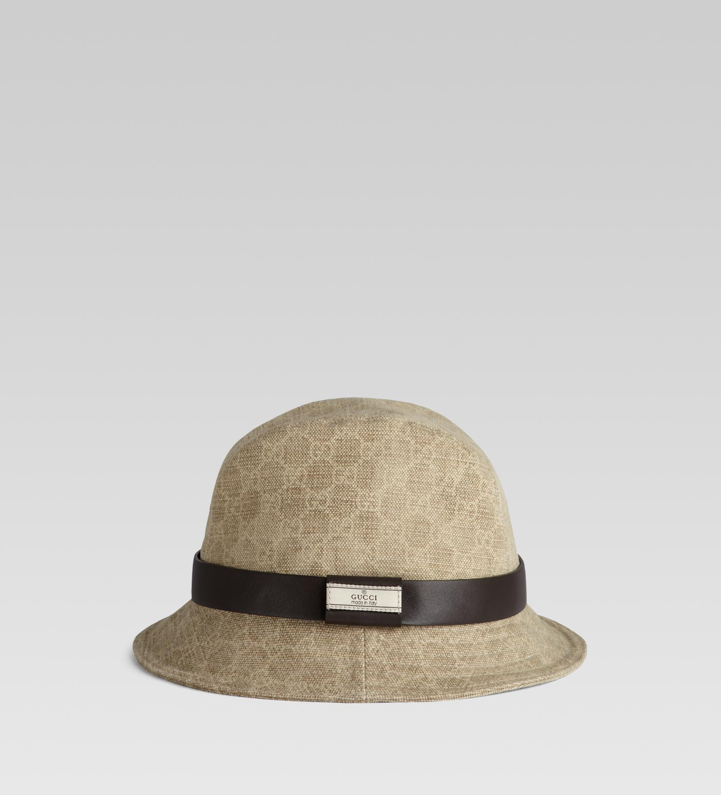 53955e998229 Lyst - Gucci Fedora with Gucci Trademark Detail in Natural for Men