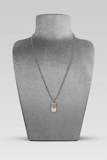 Gucci Dog Tag Necklace with Crest Motif - Lyst