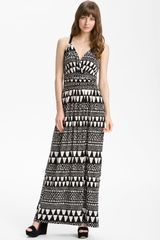 Vince Camuto Geo Stripe Maxi Dress