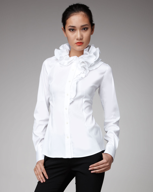 ASOS White Ruffle Front Shirt | ASOS |Ruffle Shirt