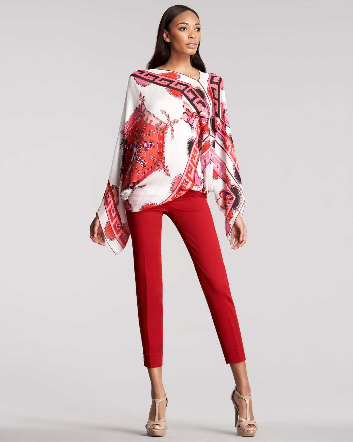 Emilio pucci Capri Pants in Red | Lyst