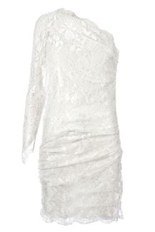 Emilio Pucci One Shoulder Lace Dress - Lyst