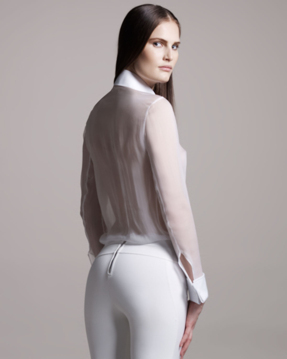 Find womens white sheer blouse at ShopStyle. Shop the latest collection of womens white sheer blouse from the most popular stores - all in one place.
