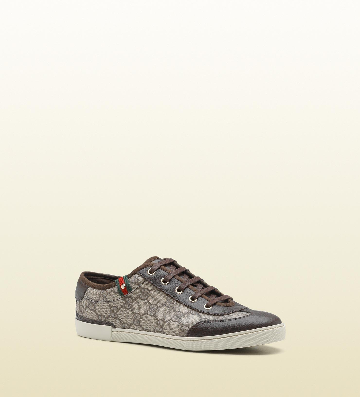 5b695136c Gucci Barcelona Gg Supreme Canvas Sneaker in Natural for Men - Lyst