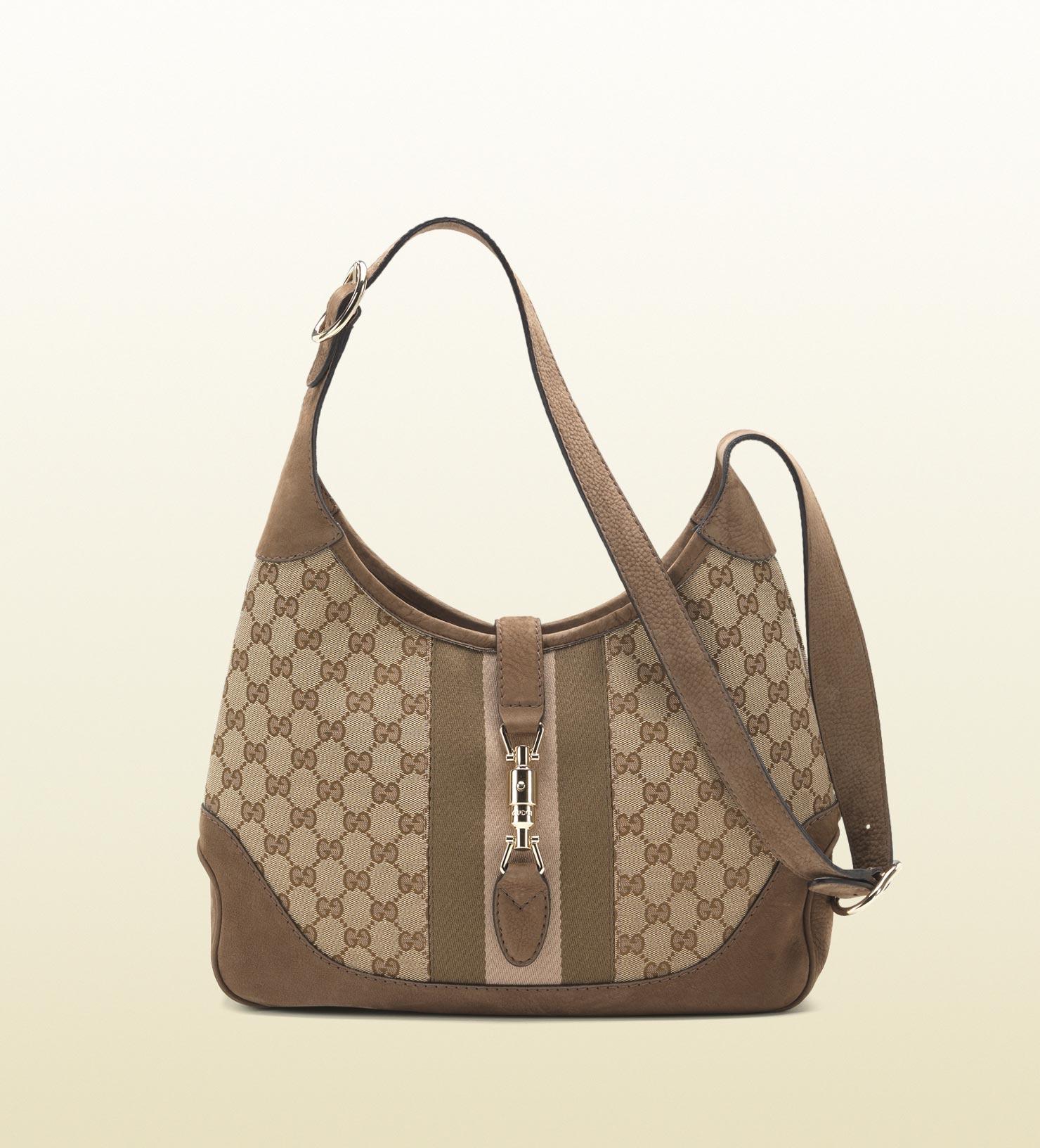 f06dc3e169fa Gucci Jackie Original Gg Canvas Shoulder Bag in Gray - Lyst