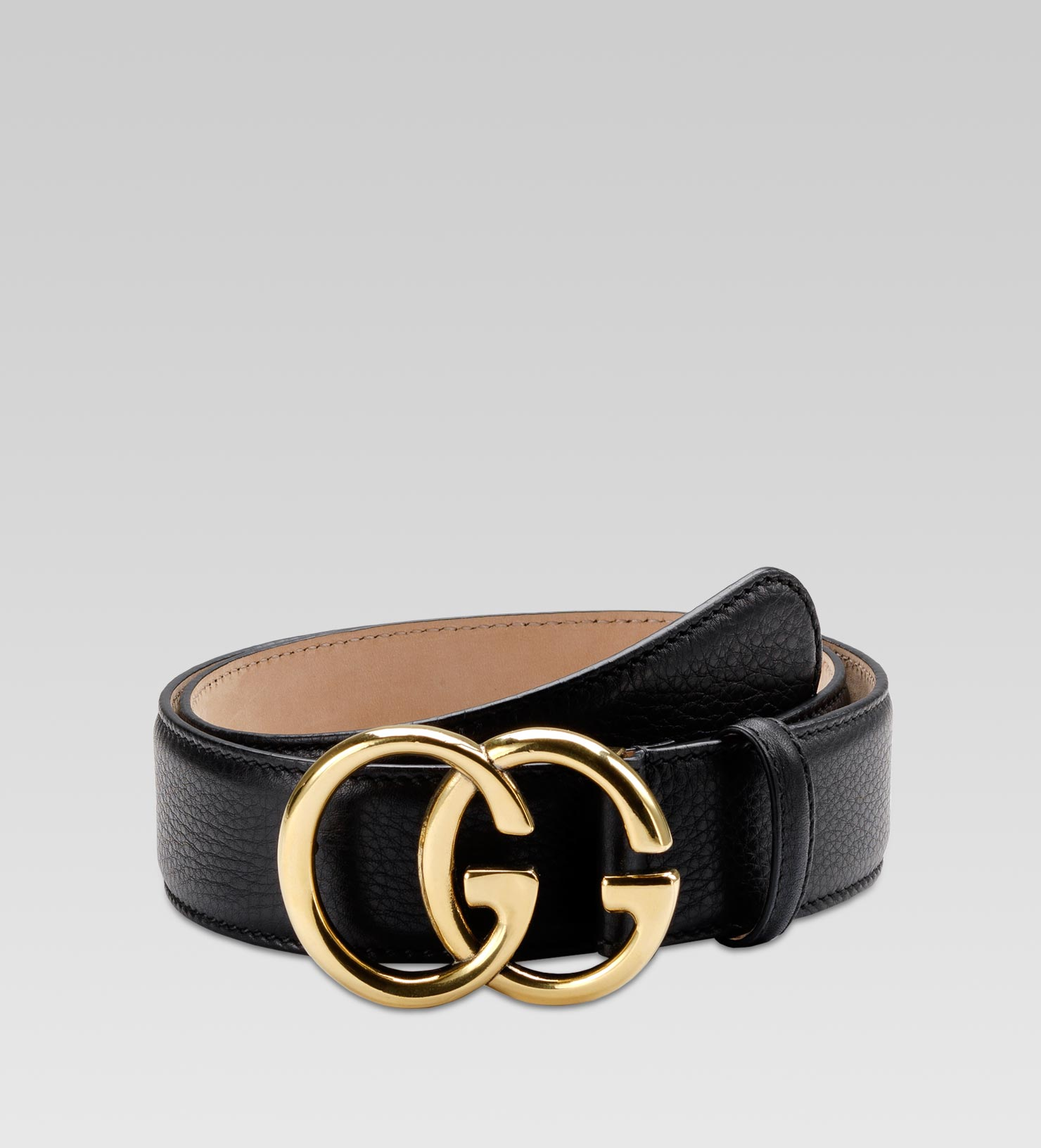 Belt With Double G Buckle