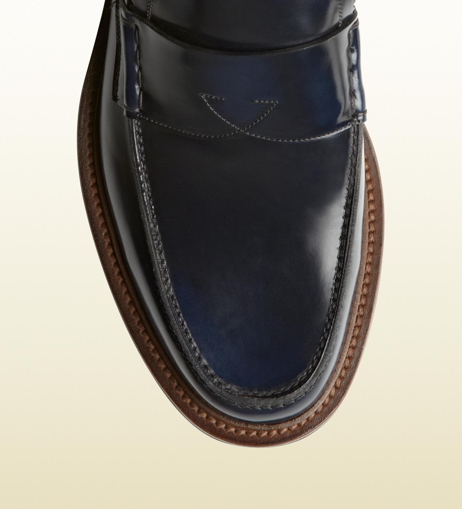 Gucci Penny Loafer with Rubber Sole in Blue (Black) for ...