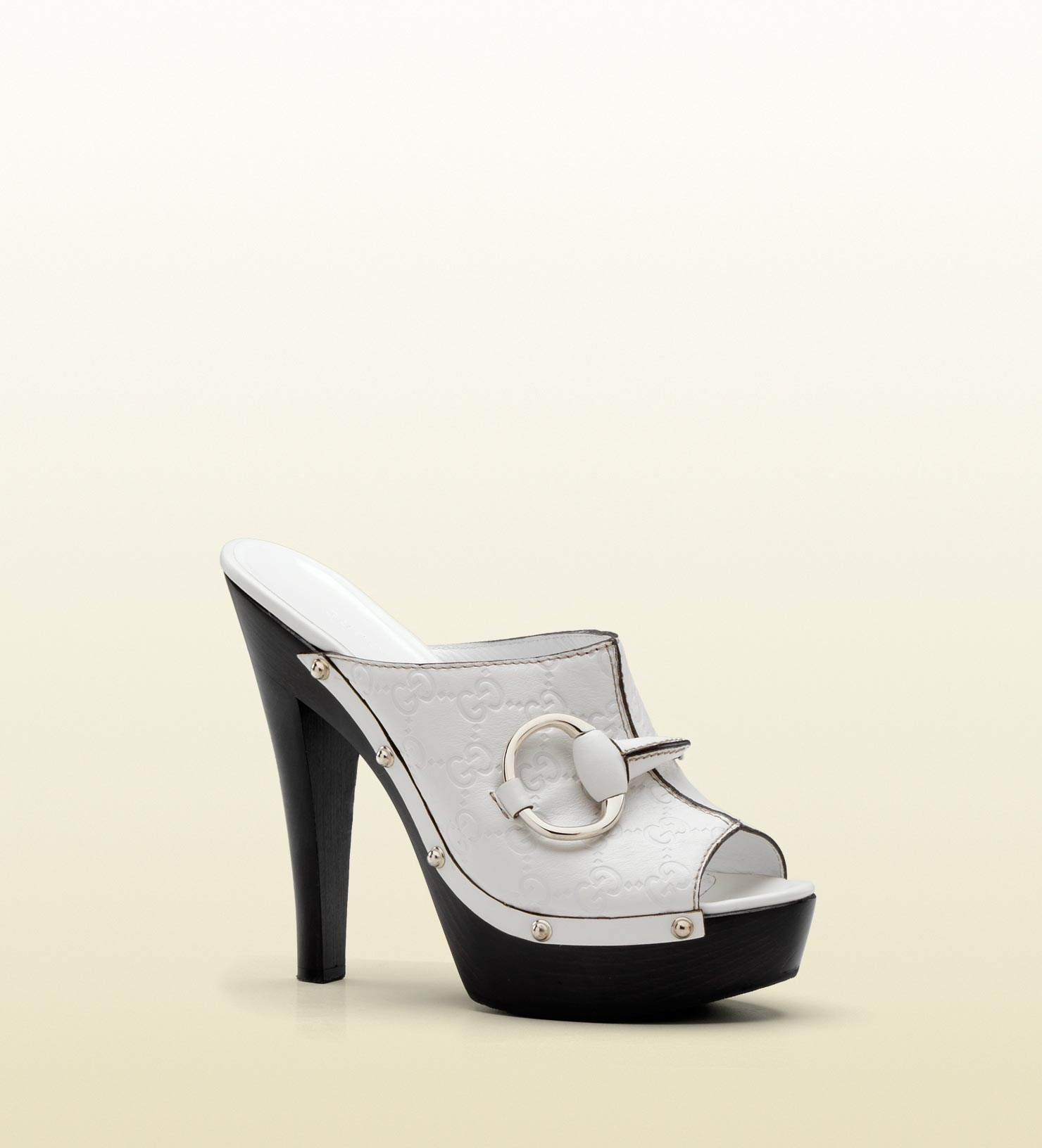 Gucci Icon Bit High Heel Clog with