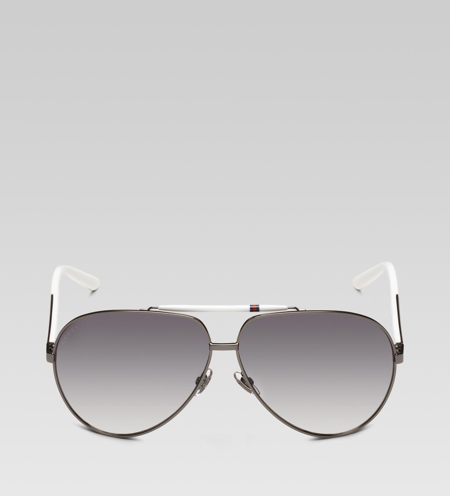 af00821d3a1a Gucci Medium Aviator Sunglasses With Signature Web Detail On Temple ...