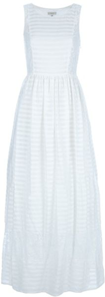 Paul By Paul Smith Lace Detail Dress in White - Lyst