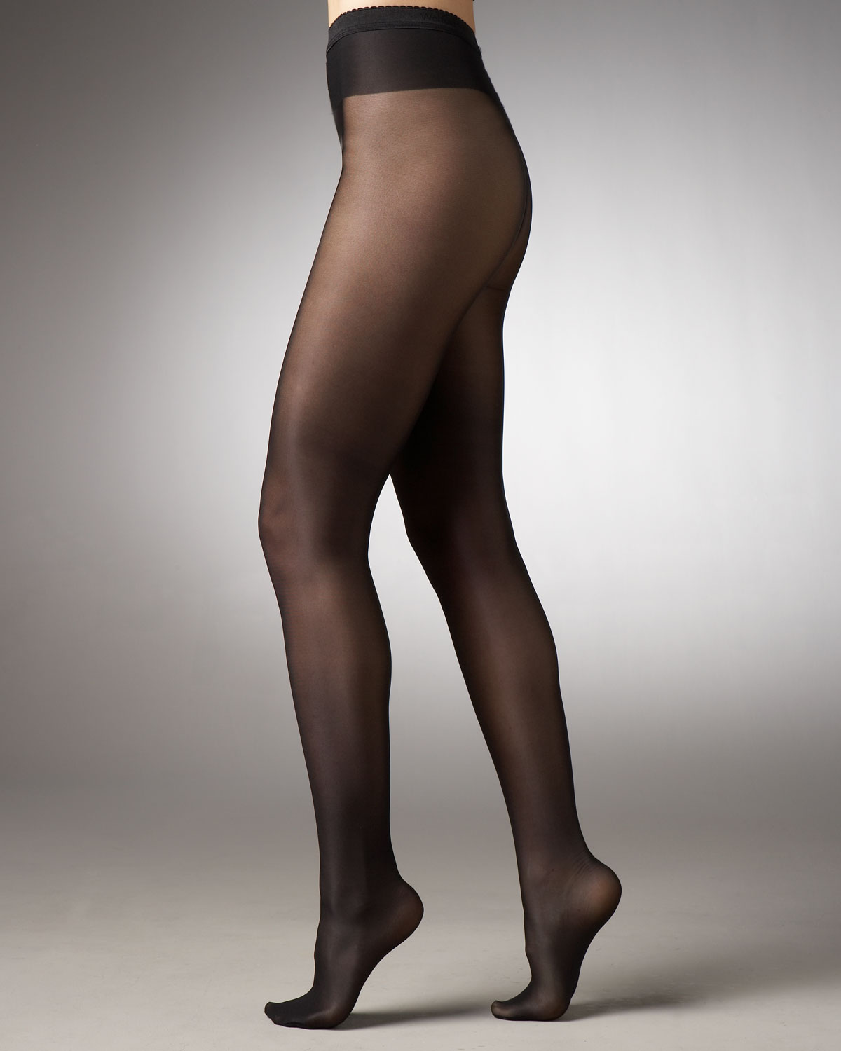 Wolford Neon 40 Glossy Tights in Black