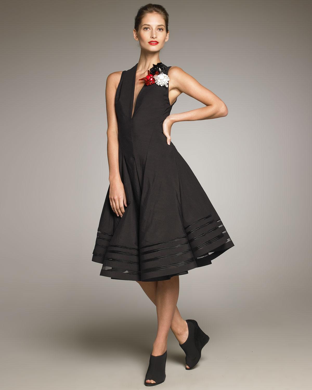 Donna Karan Swingy Dress In Black Lyst