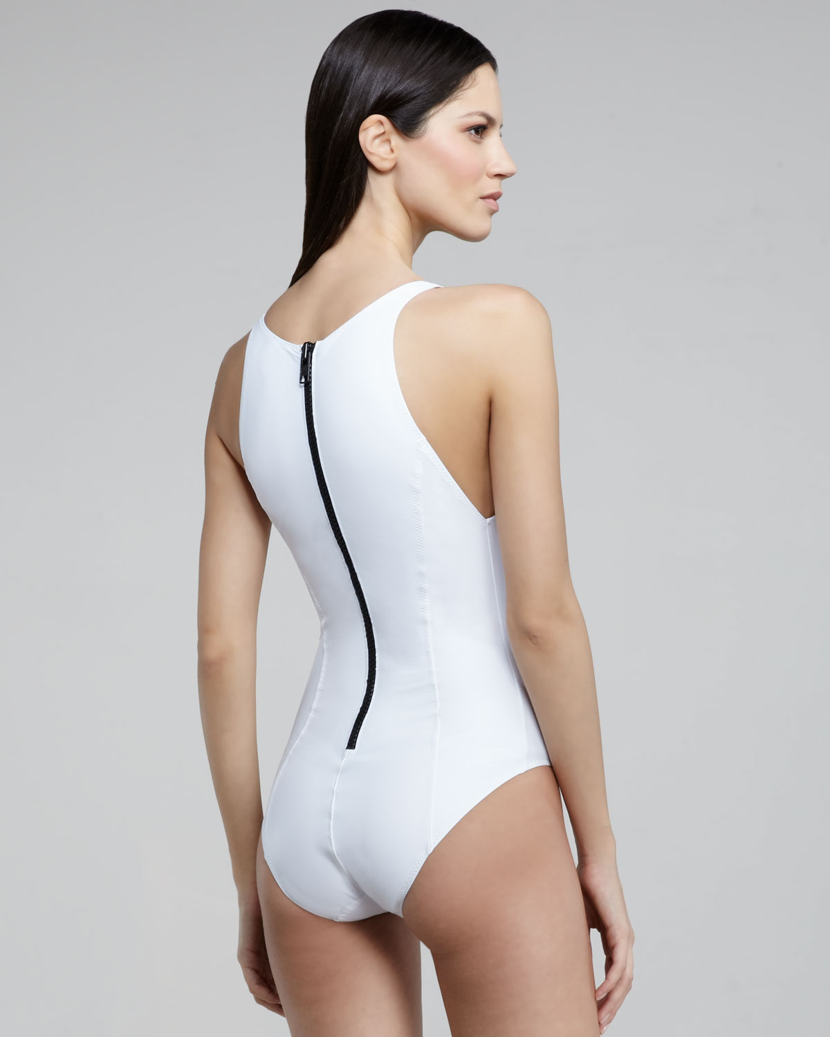 wide selection of designs hot-selling professional release date: Lisa Marie Fernandez White Garance Back-zip One-piece Swimsuit